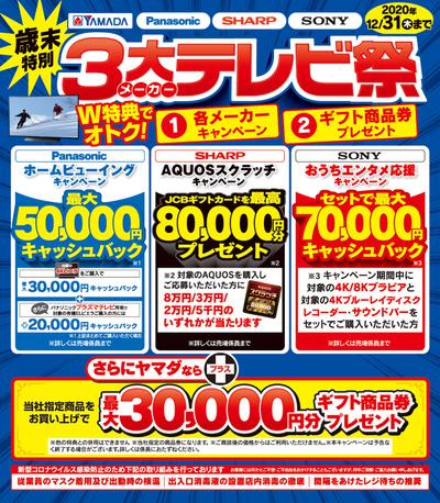 【歳末特別】3大メーカーテレビ祭